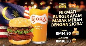 Burger Ayam Masak Merah